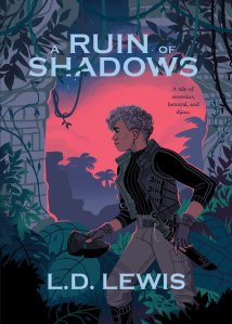 "cover for ""A Ruin of Shadows"" novella by L. D. Lewis"